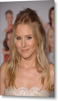 Kristen Bell At Arrivals For You Again Metal Print by Everett