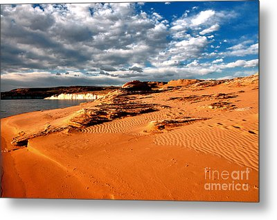 Lake Powell Morning Clouds Metal Print by Thomas R Fletcher