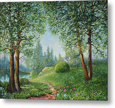 Metal Print featuring the painting Lake Steilacoom by Charles Munn