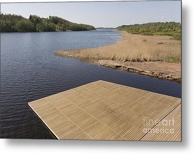 Lakeside Dock Metal Print by Jaak Nilson