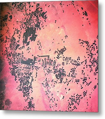 Landscape Of Earth Viewed From Space Metal Print by Stockbyte