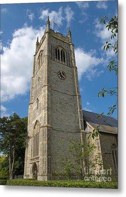 Laxfield Church Tower Metal Print by Ann Horn