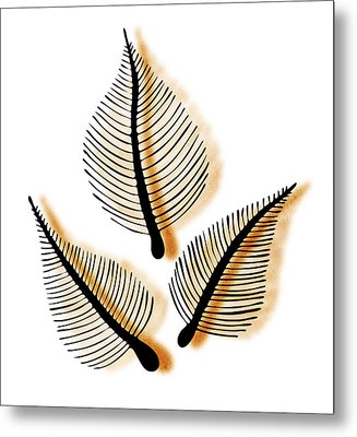 Leaves Metal Print by Frank Tschakert