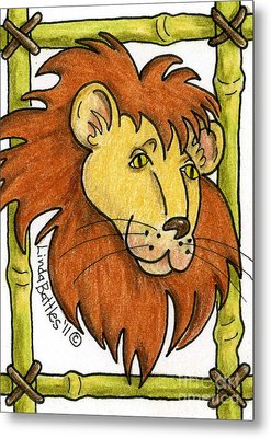 Leo Metal Print by Linda Battles