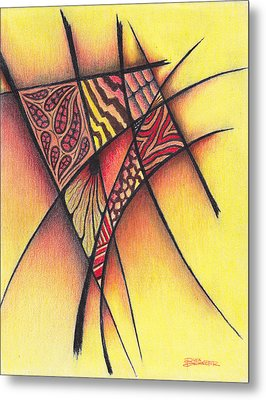 Metal Print featuring the drawing Life On The Grid by Buck Buchheister