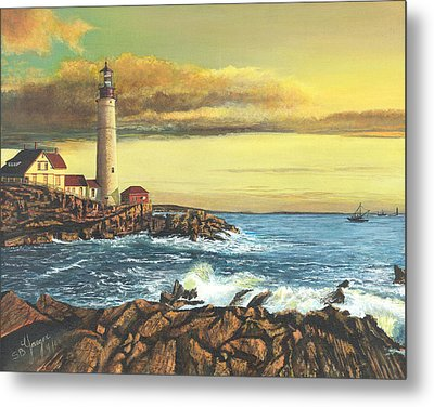 light house Nova Scotia Metal Print by Stuart B Yaeger