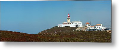 Metal Print featuring the photograph Lighthouse At Cabo Da Roca by Luis Esteves