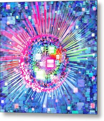Lighting Effects And Graphic Design Metal Print by Setsiri Silapasuwanchai