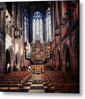 #liverpoolcathedrals #liverpoolchurches Metal Print by Abdelrahman Alawwad
