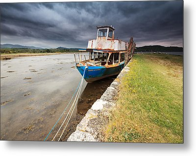 Loch Etive Jetty Old Boat Metal Print