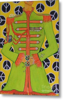 Lonely Hearts Club Member John Metal Print by Barbara Nolan