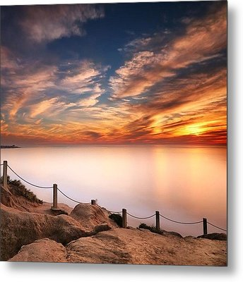 Long Exposure Of Last Night's Sunset Metal Print by Larry Marshall