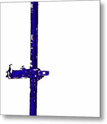 Long Lock In Blue Metal Print by J erik Leiff