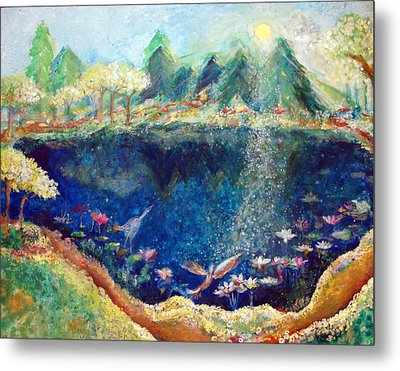 Lotus Lake Metal Print by Ashleigh Dyan Bayer