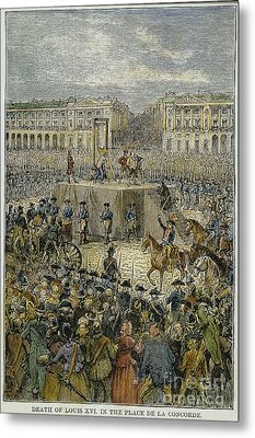 Louis Xvi: Execution, 1793 Metal Print by Granger