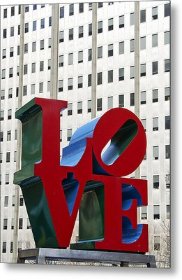 Love Park - Center City - Philadelphia Metal Print by Brendan Reals
