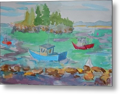 Lubec Lobster Boats Metal Print