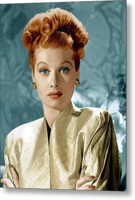 Lucille Ball, Ca. Mid-1940s Metal Print by Everett