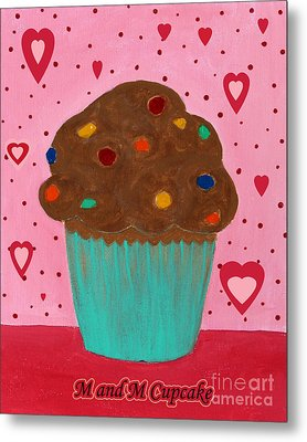 M And M Cupcake Metal Print by Barbara Griffin