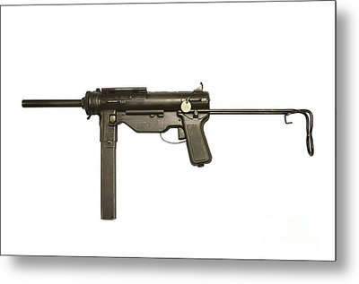 M3a1 Submachine Gun, 45 Caliber Metal Print by Andrew Chittock