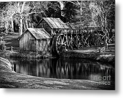 Metal Print featuring the photograph Mabry Mill by Carrie Cranwill