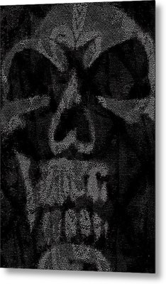 Macabre Skull Metal Print by Roseanne Jones