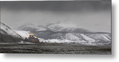 Machen Lhagong Monastery. A Newly Metal Print