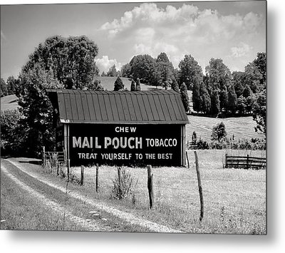 Metal Print featuring the photograph Mail Pouch Barn by Mary Almond