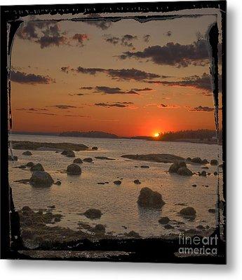 Maine Sunset Metal Print by Jim Wright