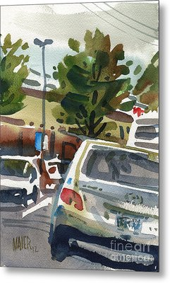 Mall Parking Metal Print by Donald Maier