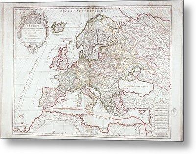 Map Of Europe Metal Print by Fototeca Storica Nazionale