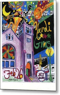 Mardi Gras Metal Print by Rodger Ellingson