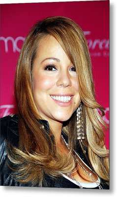 Mariah Carey In Attendance For Launch Metal Print by Everett