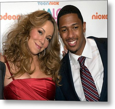 Mariah Carey, Nick Cannon At A Public Metal Print by Everett