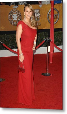 Mariah Carey Wearing A Valentino Gown Metal Print by Everett