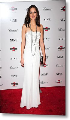 Marion Cotillard Wearing A Dior Gown Metal Print by Everett