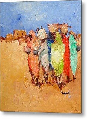 Market Day Metal Print by Negoud Dahab