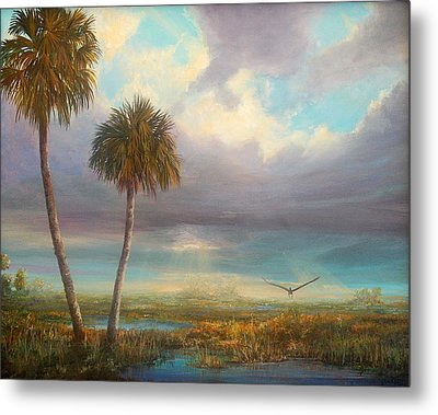 Metal Print featuring the painting Marsh Launch by AnnaJo Vahle