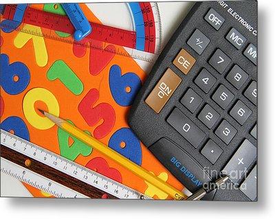 Mathematics Tools Metal Print by Photo Researchers Inc