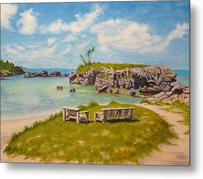 Memories Tobacco Bay Bermuda Metal Print