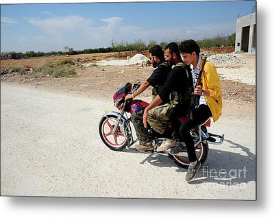 Men From The Free Syrian Army Metal Print by Andrew Chittock