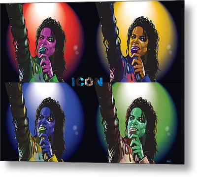 Michael Jackson Icon4 Metal Print by Mike  Haslam