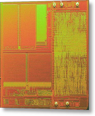 Microchip, Sem Metal Print by Power And Syred