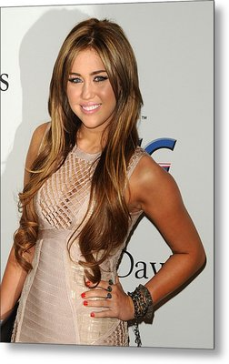 Miley Cyrus In Attendance For Clive Metal Print by Everett