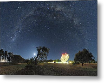 Milky Way Over Parkes Observatory Metal Print by Alex Cherney, Terrastro.com