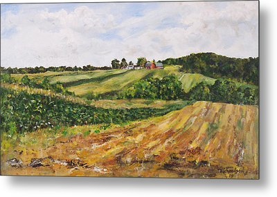 Metal Print featuring the painting Milligan's Farm by George Richardson