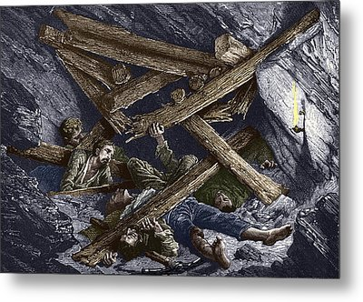 Mining Disaster, 19th Century Metal Print by Sheila Terry