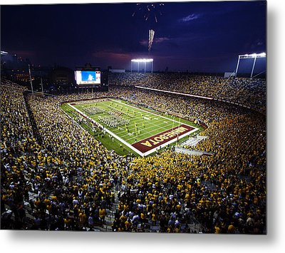 Minnesota Tcf Bank Stadium Metal Print by University of Minnesota