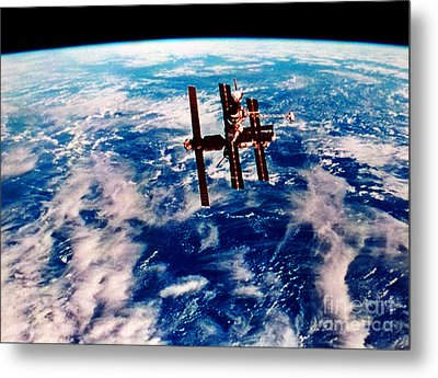 Mir Space Station Metal Print by Nasa