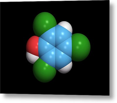 Molecule Of A Component Of Tcp Antiseptic Metal Print by Dr Tim Evans